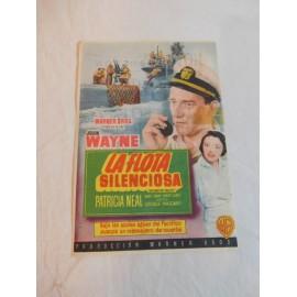 Programa de cine. La Flota Silenciosa. Publicidad Gran Teatro Calderón.
