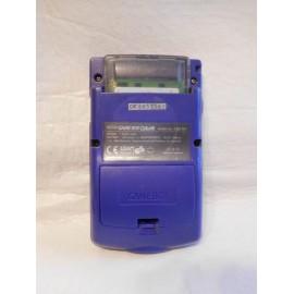 Consola Game Boy color en color morado con instrucciones
