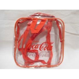 Bolso bolsa transparente de Coca Cola. Años 80.