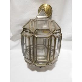 Preciosa lampara de colgar de estaño. Años 40.