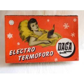 Antigua caja vacía años 50 Electro Termoforo Daga. España.