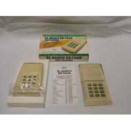 Extraño terminal del bolsillo el banco en casa por teléfono. Banco Santander. Años 70-80. Nunca usado