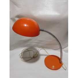 Bonita lampara flexo en naranja pop años 60. Estilo Space Age Mid Century.