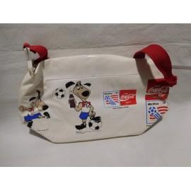 Preciosa bolsa bolso promocional premmium de Coca Cola.  Mundial de futbol 1994
