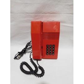 Magnifico teléfono Teíde en rojo con botones negros y conexión actualizada