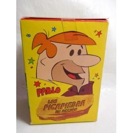 Caja con figuras de Los Picapiedras Pablo de D toys años 80