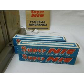 Cine super Nic supernic metalico panorámico con caja. Original. Con instrucciones y cuatro películas