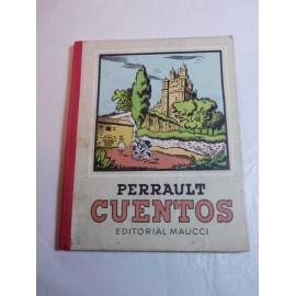 Libro de texto lectura Perrault cuentos. Ed. Maucci. Años 50.