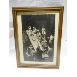Fotografia firmada por Gyenes años 50 Teatro Español obra Edipo. Rey Teatro Bellas Artes.