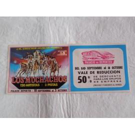 Preciosa entrada Circo de los Muchachos. Años 70. Palacios de los deportes de Madrid.