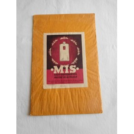 Antigua bolsa guarda ropa Mis antipolillas. Años 50. Con etiqueta ilustrada