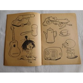 Cuaderno de colorear de la  Familia Telerín. Vamos a pintar juguetes.