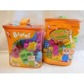 Bolsas de Piezas Blocks para montar en dos tamaños de piezas.