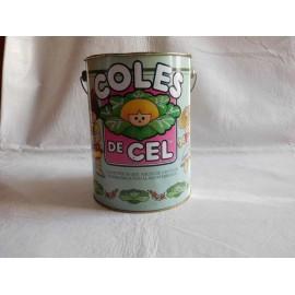 Papelera en hojalata Coles de Cel. Las muñecas que nacen de las coles sembradas en el Mediterraneo.