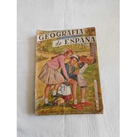 Libro de texto geografía de España. Sm. 1958.