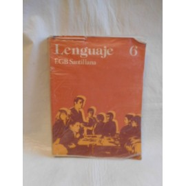 Libro de texto lenguaje 6º EGB. Ed. Santillana. 1980