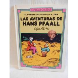 El libro las aventuras de Hans Pfaall, Edgar Allan Poe, clásicos galerias. 1985. Ed. Playor.
