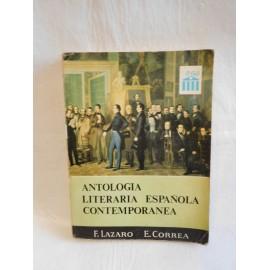 Libro de texto Antologia literaria española. Ed. Anaya. 1967.