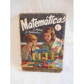 Libro de texto matemáticas 1º. Ed. Sm. Año 1958. Aritmética y geometría.
