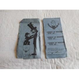 M69 Lote de 2 sobres de cromos puzzle - tip y coll - busca la manita pepe luis