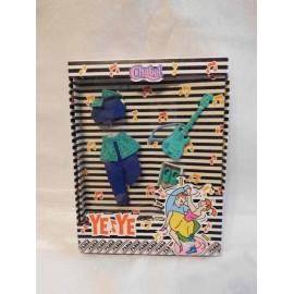 Conjunto Chabel Yeye en azul. Nuevo. Años 80.
