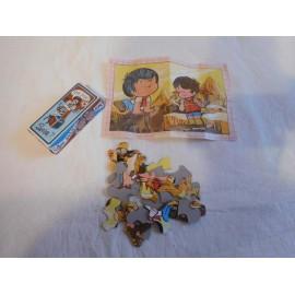 Antigua caja sorpresa con puzzle y lámina de la serie de dibujos Marcos. Años 70.