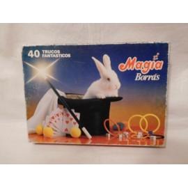 Juego Magia Borras 40 trucos. Años 70. Completo y con instrucciones.