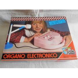 Organo electrónico Feber. Años 80. En caja y con instrucciones.