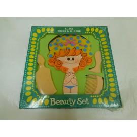Divertido juego de tocador para niñas con espejo y peines. Beauty Set. Años 70. Versión pelirroja.