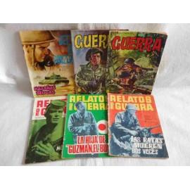 Lote de 6 tebeos de las colecciones Guerra, Relatos de Guerra y Hazañas Bélicas.