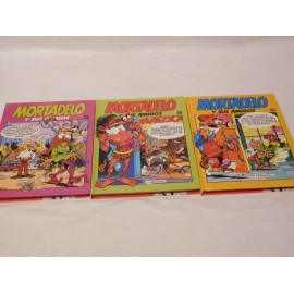 Lote de tres tomos Mortadelo y sus amigos. Números 20, 22 y 23. Buen estado.