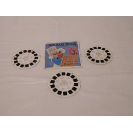 Lote de tres discos para visor Estereoscópico View Master del Pato Donald. 1957.