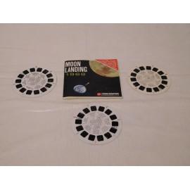 Lote de tres discos para visor Estereoscópico View Master del Proyecto Apollo de la Nasa. 1969.