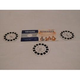 Lote de tres discos para visor Estereoscópico View Master de la serie Bonanza