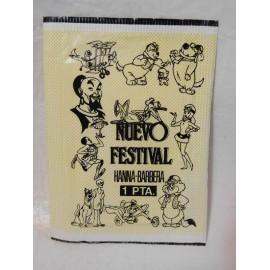 Sobre de cromo Nuevo Festival Hanna Barbera 1 pta años 70. Sin abrir.