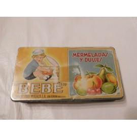 Caja metálica Mermelada Dulce Bebe. Litografiada. Navarra.