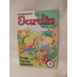 Cuadernillo Everest Jardín. Juega con los números 3, EGB. Año 1987.
