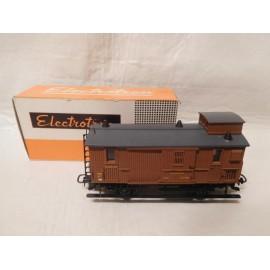 Electrotren H0 - Vagón de CORREOS M Z A en color marrón - Escala H0, con caja