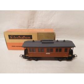 Antiguo Vagón de tren electrotren - Vagón pasajeros MZA III Madrid - escala H0 - con caja