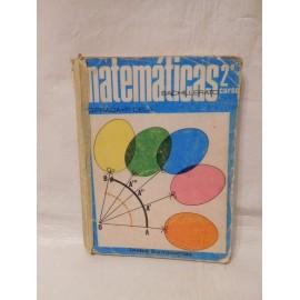 Libro de texto Matemáticas 2º Bachillerato. Somosaguas. 1970.