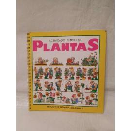 Libro Actividades Sencillas Plantes. Ediciones Generales Anaya. 1985. 1ª Edición.