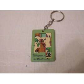 Llavero con puzzle móvil de Baloo del Libro de la Selva de Disney.