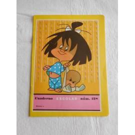 Cuaderno de colegio Familia Telerín años 60. Modelo Cleo y Cuquín.