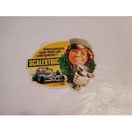 Magnifica pegatina Scalextric Exin. Años 70. Nunca pegada. Original. Una joya.