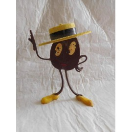 Muñeco promocional grano de café Cafes la Estrella años 60. La primera versión. Difícil.
