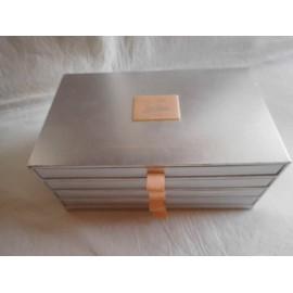 Caja muestrario con diferentes telas en diferentes materiales de diseñador Jean Paul Gaultier. Discovery Kit.