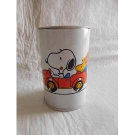 Hucha años 80 de Snoopy en coche. Snoopy Bank.