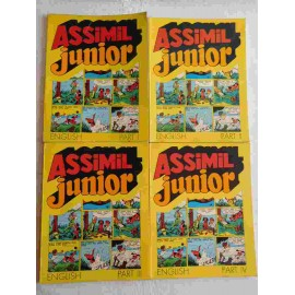 Cuatro libro comic Assimil Junior volumenes 1, 2, 3, 4. Años 70.
