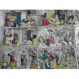 Juego de lotería Contes de Fees. Contiene 12 cartones ilustrados y móviles de cuentos infantiles