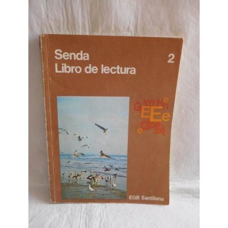 Libro de Texto, Libro de Lectura. Senda 2º. Santillana. EGB. Años 70. Magnífico.
